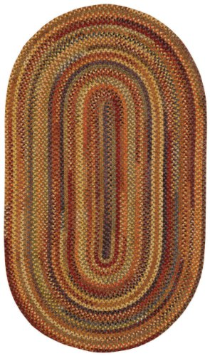 100% Wool Capel Rugs (Capel Rugs Eaton Oval Braided Area Rug, 2 x 4',)
