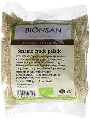 Bionsan Sésamo Crudo Pelado - 6 Paquetes de 300 gr - Total: 1800 ...
