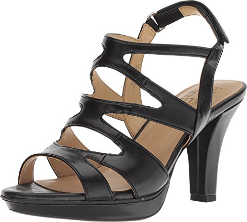 Comfort Dress Sandals - Naturalizer Dianna Slingback Sandals, Black, 11 US / 41 EU