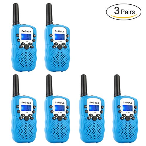 Bobela T388 Best Cheap Walkie Talkies as Festival Birthday Gifts for Boys Men / 2 Way Radio Toys for Kids Camping / Hands Free Wireless Walky Talkie with Mic for Family Elderly Fishing ( Blue 6 Pack ) (Travel Channel Halloween 2017)