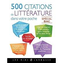 500 CITATIONS DE LITTÉRATURE DANS VOTRE POCHE