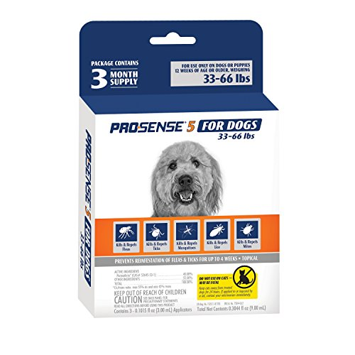 ProSense 5 Flea and Tick Prevention for Dogs 33-66