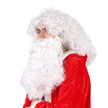 Santa Beard and Wig Set Adult Santa Claus Costume Christmas Fancy Dress US