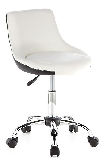 Drehstuhl weiß schwarz  hjh OFFICE 685950 Drehstuhl/Arbeitsstuhl Stady, weiß / schwarz ...