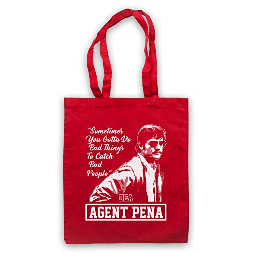 Narcos Agent Pena Do Bad Things To Catch Bad People Bolso Rojo