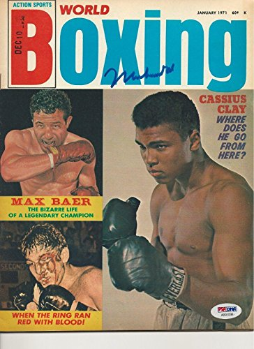 MUHAMMAD ALI Signed 1971 WORLD BOXING Magazine w/LOA Graded 10 - PSA/DNA Certified - Autographed Boxing Magazines (Magazine World Boxing)