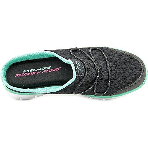 Zapatillas De Deporte Skechers Sport Mujeres Synergy Free Play, Negras / Verde Azulado