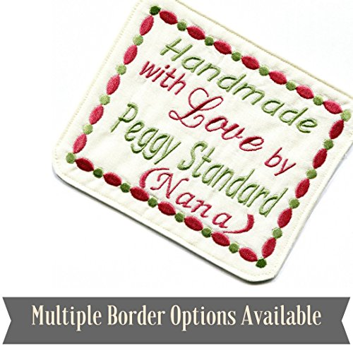 Embroidered Quilt Blocks, Personalized Sewing Labels for Han