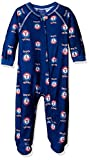 Outerstuff MLB Texas Rangers Infant Boys Sleepwear All Over Print Zip Up Coveralls, 18 Months, Deep Royal