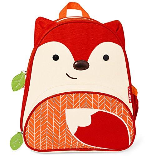 Skip Hop Zoo Little Kid and Toddler Backpack, Ferguson Fox, Red