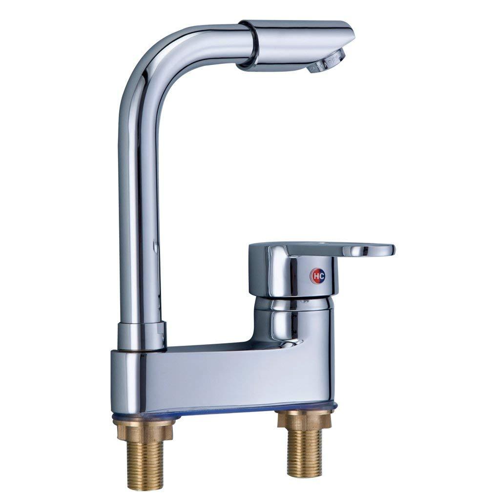 WEI Bad volles Kupfer 360 kann Becken Waschbecken Becken Becken heißen und kalten Wasserhahn Waschbecken gedreht Werden