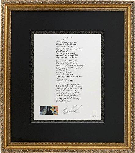 David Crosby - Printed Lyrics Signed In Ink