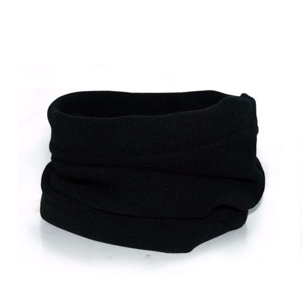 Black Zhuyuanhai Multifunctional outdoor men and women collar, riding bib, windproof collar, hat fleece scarf