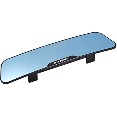 KITBEST Rear View Mirror, Anti Glare Rearview Mirror Interior Clip on Panoramic Car Convex Wide Angle Rear View Mirror to Reduce Blind Spot and Antiglare Effectively: Automotive