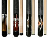 "Lot of 4 - 58 "" 2 Piece Hardwood Canadian Maple Pool Cue Billiard Table Stick 18 - 21 Oz (set3)"