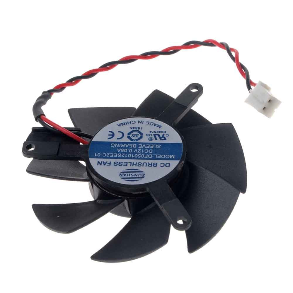 DF0501012SEE2C Graphics Card Fan 47mm DC 12V 0.05A 2-Pin Cooling Fan for X1300 HD4650 HD3650 by Allpartz (Image #3)