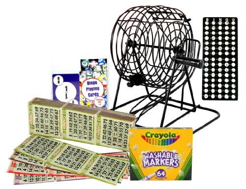 Complete Home Bingo Kit With Authentic Bingo Paper by Designer Deals Bingo