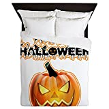 Queen Duvet Cover Happy Halloween Pumpkin