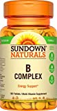 Sundown Naturals Vitamin B Complex 100% RDV, 100 Tablets (Pack of 3)