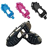 JSHANMEI 24 Teeth Anti Slip Crampon Spikes Grips Gripper Walk Stabilicers Ice Traction Cleat for Snow and Ice Lite Duty Serious Traction Cleats for Boots and Shoe Ice Cleats