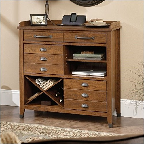 sauder-carson-forge-sideboard-washington-cherry-finish