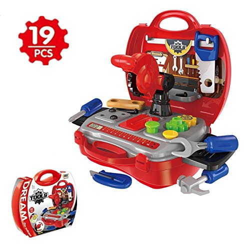 SEALEN Pretend Play Toys Playset for Little Girl and Boy Kids Role Play with Portable Case,Doctor/Make-up/Puppy Dog/Kitchen Food/Construction Tools/kits