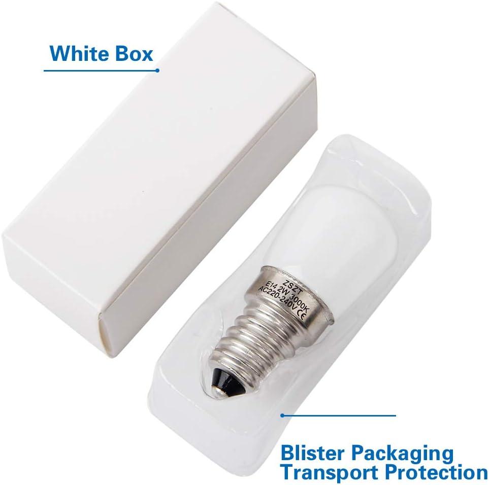 Bombillas de frigorífico E14 LED 2W ZSZT equivalente de bulbo del ...