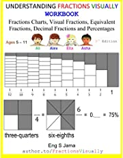 UNDERSTANDING FRACTIONS VISUALLY WORKBOOK: Fractions Posters, Visual Fractions, Equivalent Fractions, Decimal Fractions and Percentages