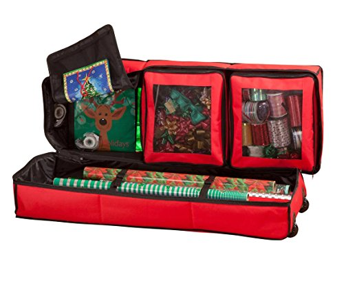 Miles Kimball Gift Wrap Storage Bag Organizer Wheels by Miles Kimball