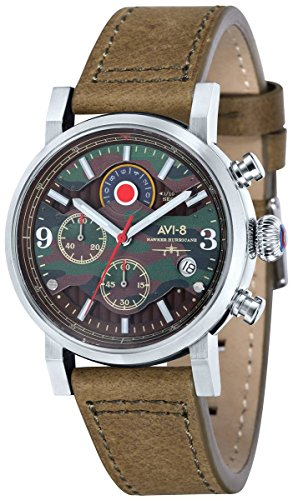 AVI-8 Mens Hawker Hurricane Watch - Green