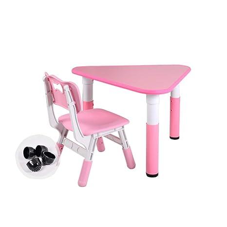 Amazon.com: Juego de mesa y silla para niños, mesa de madera ...