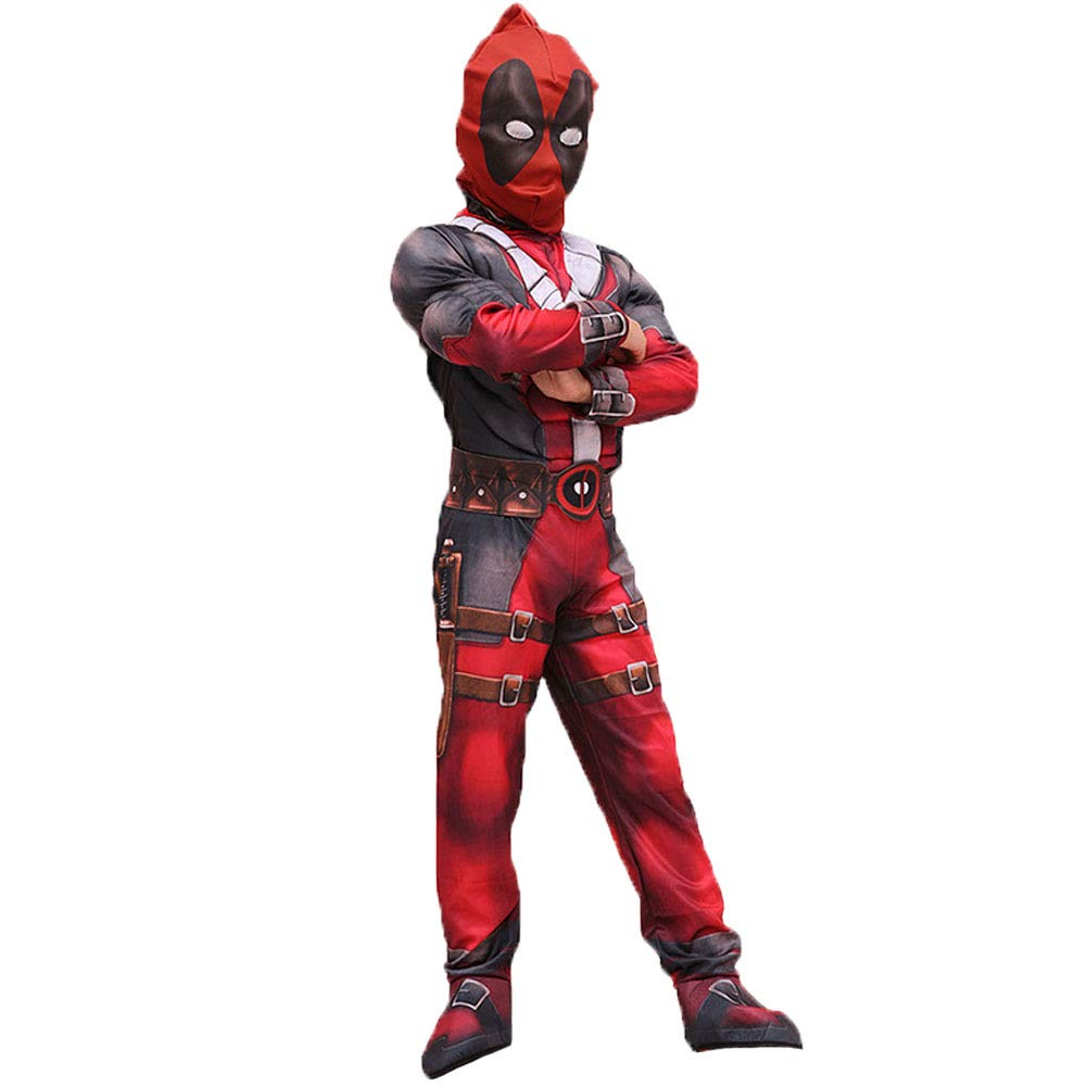 Hallowmax Deadpool Deluxe Child Boys Costume Cosplay Outfits