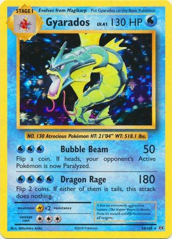 Pokemon - Gyarados (34/108) - XY Evolutions - Holo