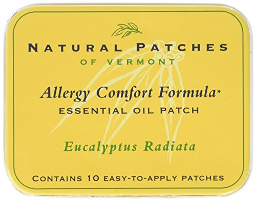 Natural Patches of Vermont Allergy Comfort Formula Essential Oil Body Patches, Eucalyptus Radiata, 10-Count Tin ()