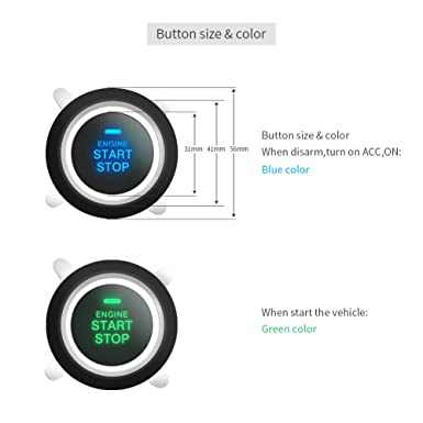 Easyguard ec002-t Smart clave PKE coche sistema de alarma ...