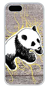 iPhone 5S Case, iPhone 5 Cover, iPhone 5S Panda 10 Hard White Cases