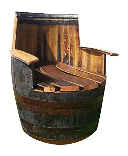 Cheeky Chicks Hand Crafted Solid Oak Wood Rustic Whiskey Barrel Armchair Wooden Cask Furniture Amazon.co.uk Kitchen u0026 Home  sc 1 st  Amazon UK & Cheeky Chicks Hand Crafted Solid Oak Wood Rustic Whiskey Barrel ...