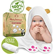 Baby Hooded Towel Bath Set Towels for Boys Girls Newborns by Kuddle King | With Hood, Paws, Ears | Antibacterial Hypoallergenic| Dry or Snuggle Baby Warm | Infant, Toddler, Newborn, Kids | Pool, Beach