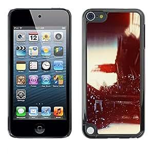 """Pulsar Snap-on Series Teléfono Carcasa Funda Case Caso para Apple iPod Touch 5 , Viñeta fotografía Luces Vida Nocturna"""""""