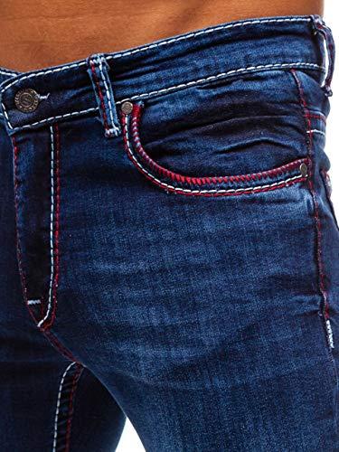 Vaquero Hombre Clubwear Pantalón Rojo Fit 701 Slim BOLF Diario 6F6 Estilo Azul Oscuro Y RAxqwgdEdn