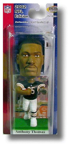 Anthony Thomas #35 Chicago Bears NFL Collectable Playmakers Upper Deck Bobbing Head Doll