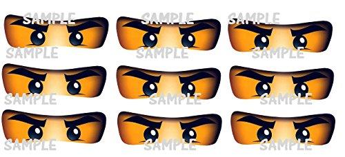 Ninja Eyes - 18 PRINTED Ninjago inspired Stickers, CUT