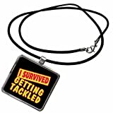 Best Pride Necklaces With Rectangles - 3dRose Dooni Designs Survive Sayings - I Survived Review