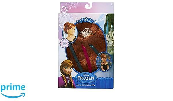 Disney La Reine des Neiges - Anna coronación peluca: Amazon.es: Juguetes y juegos