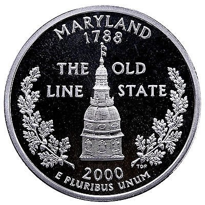 - 2000 S Maryland State Quarter Proof GEM BU++
