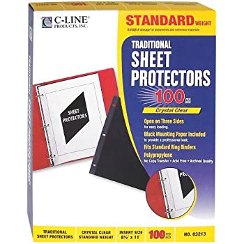 Amazon Com C Line Traditional Standard Weight Poly Sheet