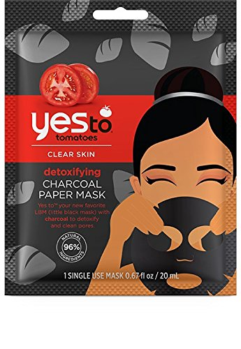 Yes to Tomatoes Clear Skin Detoxifying Charcoal Paper Mask (Pack of 6) (Yes To Tomato Face Mask compare prices)