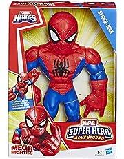 Playskool Heroes Marvel Super Hero Adventures Mega Mighties Spider-Man Collectible – 25cm hög actionfigur, leksaker för barn från 3år