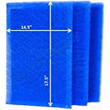 StratosAire Air Cleaner Replacement Filter Pads 16x20 Refills (3 Pack) BLUE