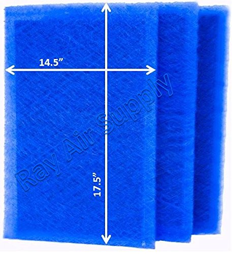 RAYAIR SUPPLY 16×20 ARS Rescue Rooter Air Cleaner Replacement Filter Pads 16×20 Refills (3 Pack)